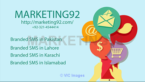 Branded SMS in Pakistan by Marketing92 boston